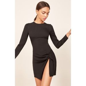 NWT✨REFORMATION Cara Mini Dress Black